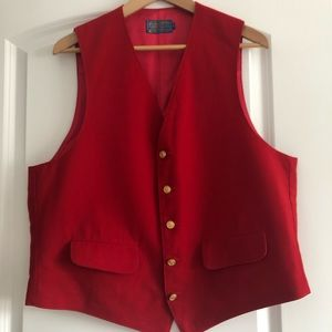 ✨100% Wool Men's Red Vest✨